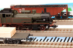 Old Locomotive Models on graphs Stock Photos
