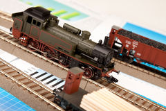 Old Locomotive Models on graphs Stock Image