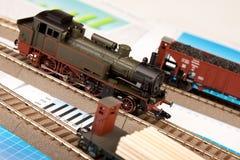 Old Locomotive Models on graphs Stock Image