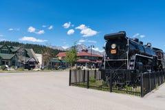 Old Locomotive near Downtown Jasper, Alberta, Canada royalty free stock photos