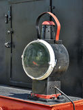 Old locomotive floodlight. Old steam locomotive floodlight detail Stock Photos