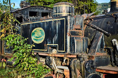 Old locomotive in the Savannah Station Stock Photography