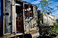 Old locomotive in the Savannah Station Royalty Free Stock Photo