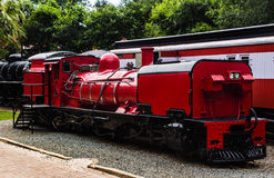 Old Locomotive. Old South African Locomotive on display at the Gold Reef in Johannesburg royalty free stock photography
