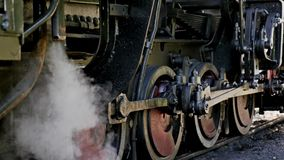 Old Locomotive Steam 4k. Old locomotives steam shot in 4k stock video footage