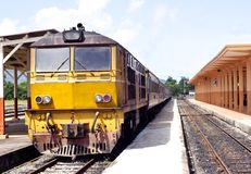 Old locomotive in Thailand Royalty Free Stock Photos