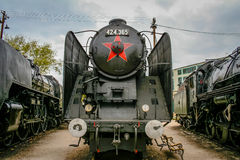 Old locomotive. In a train museum Royalty Free Stock Image