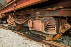 Old Locomotive wheel Stock Photo