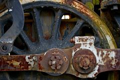 Old Locomotive Wheel Royalty Free Stock Image