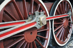 Old locomotive wheels Stock Image