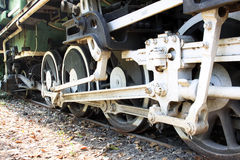 Old locomotive wheels Stock Photography
