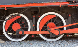 Old locomotive wheels. Royalty Free Stock Photo