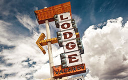 Old Lodge sign stock photos