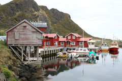 Old lofts of the harbour of Sto Stock Photo