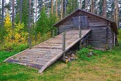 Old log barn Stock Photos