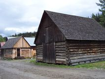 Old log building and restored cabin Royalty Free Stock Image
