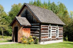 Old log building - schoolhouse Royalty Free Stock Photography