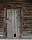 Old Log Cabin Door Stock Photography