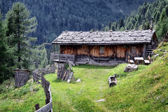 Old log cabin Stock Photo