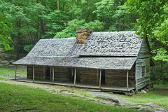 Old log cabin in Smoky Mountains Royalty Free Stock Images
