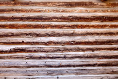 Old log cabin wood wall background. Or backdrop Stock Images