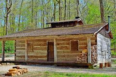 Old Log Cabin. An old log cabin in the woods Royalty Free Stock Photography