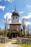 Old log church in an open-air ethnography museum Stock Photos