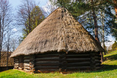 Old log hause in an open-air ethnography museum. In Wygielzow, Poland Royalty Free Stock Photography