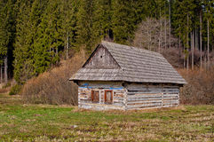 Old log home Stock Photo