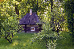 Old log house with one window Stock Photography