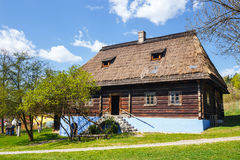 Old log house in an open-air ethnography museum Stock Photography