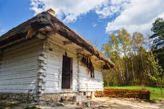 Old log house in an open-air ethnography museum Stock Images