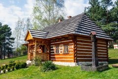 Old log house in an open-air ethnography museum Stock Photo