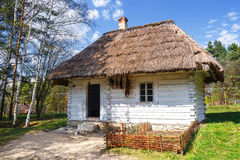 Old log house in an open-air ethnography museum Stock Photos