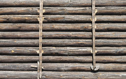 Old log wall Stock Photos