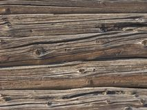Old log wall background Stock Photos