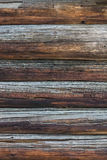 Old log wall background Stock Images
