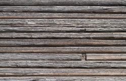 Old log wall background Royalty Free Stock Images