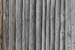 Old log wall background. Wall of one old rural house Stock Photo