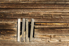 Old log wall background Royalty Free Stock Photography