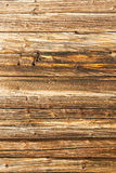 Old log wall background Stock Photography
