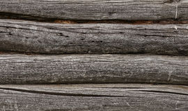 Old log wall Royalty Free Stock Photos