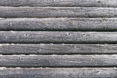 Old log wall texture Royalty Free Stock Image