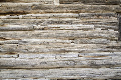 Old log wall Royalty Free Stock Image