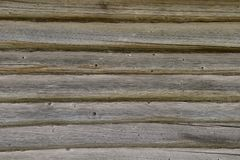Old log wall worn out Royalty Free Stock Photos