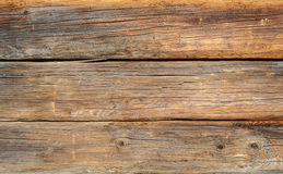 Old log wooden wall background Royalty Free Stock Images