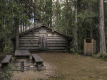 Old logging cabin. Where people who worked in the forest lived Stock Photo