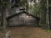 Old logging cabin. Where people who worked in the forest lived Royalty Free Stock Photos