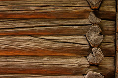 Old logs of farm house Stock Image