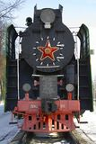 The old lokomotive. The old Russian lokomotive at Orsha railway station (Belarus royalty free stock photography